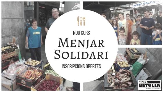 """Nou curs, i seguim amb el projecte """"Menjar solidari"""""""
